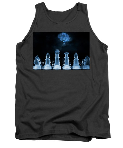 Chess Game And Human Brain Tank Top