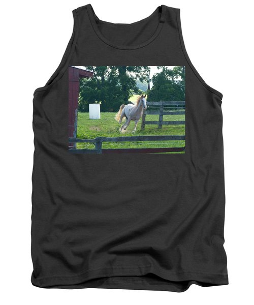 Chester On The Run Tank Top by Donald C Morgan