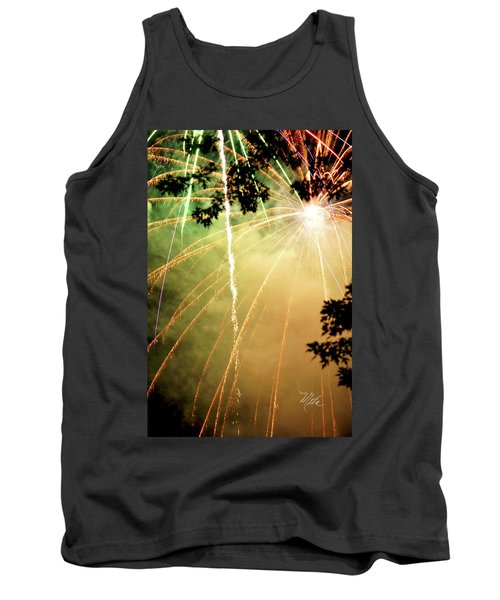Tank Top featuring the photograph Chetola Yellow Fireworks by Meta Gatschenberger