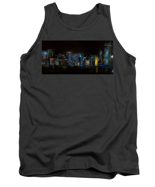 Chicago City Scene Tank Top by Michele Carter