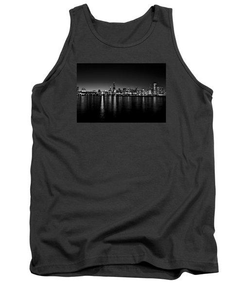 Chicago Skyline Bnw Tank Top by Richard Zentner