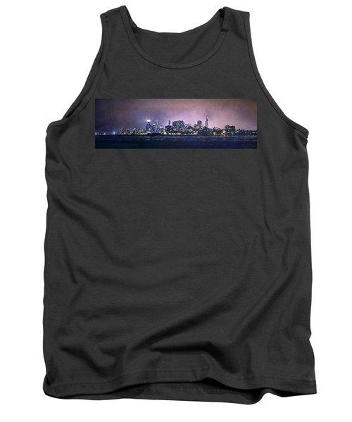 Chicago Skyline From Evanston Tank Top by Scott Norris