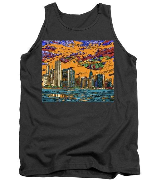 Chicago Skyline Panorama 2 Tank Top