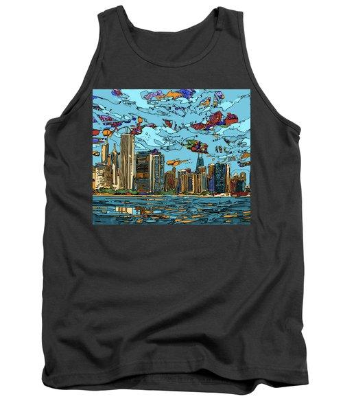 Chicago Skyline Panorama Tank Top