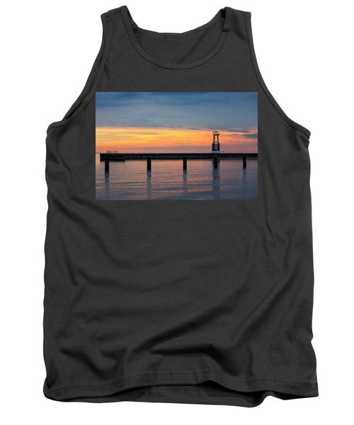 Tank Top featuring the photograph Chicago Sunrise At North Ave. Beach by Adam Romanowicz
