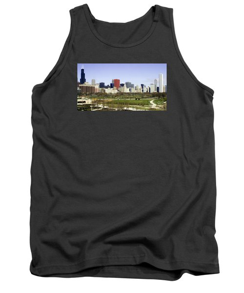 Chicago- The Windy City Tank Top by Ricky L Jones