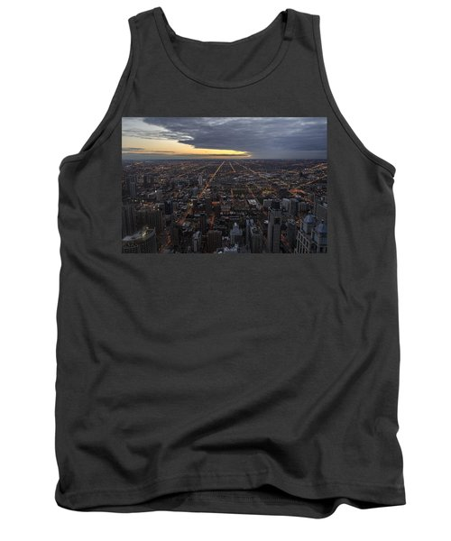 Tank Top featuring the photograph Chicago Westward by Steven Sparks