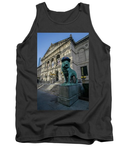 Chicago's Art Institute With Cubs Hat Tank Top