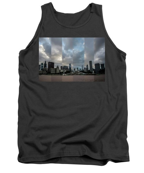 Chicago's Buckingham Fountain Time Slice Photo Tank Top