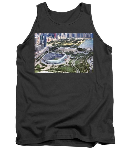 Tank Top featuring the photograph Chicago's Soldier Field by Adam Romanowicz