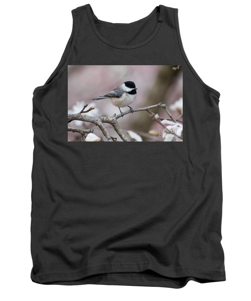 Tank Top featuring the photograph Chickadee - D010026 by Daniel Dempster