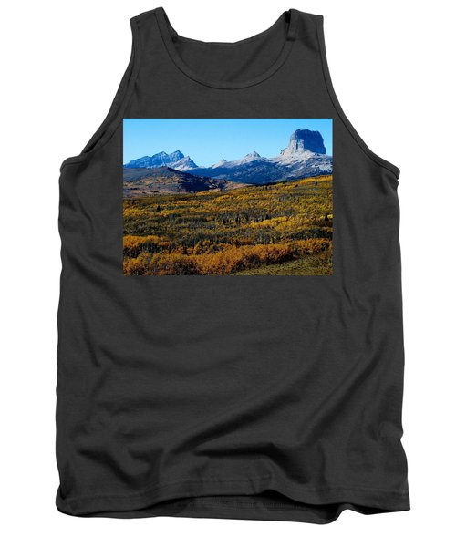 Chief Mountain In The Fall Tank Top
