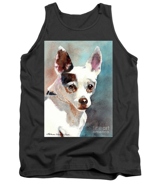 Chihuahua, Dog Painting, Dog Portrait, Dog Prints, Dog Art Tank Top