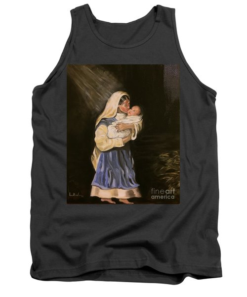 Tank Top featuring the painting Child In Manger by Brindha Naveen