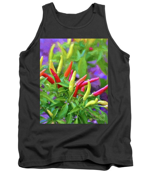 Tank Top featuring the photograph Chili Pepper Art by Kerri Farley