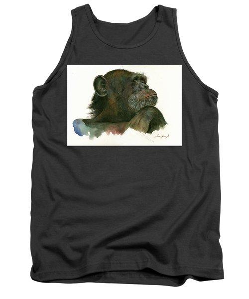 Chimp Portrait Tank Top