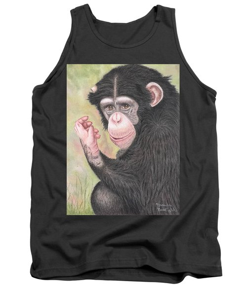 Chimpanzee Tank Top by Brenda Bonfield