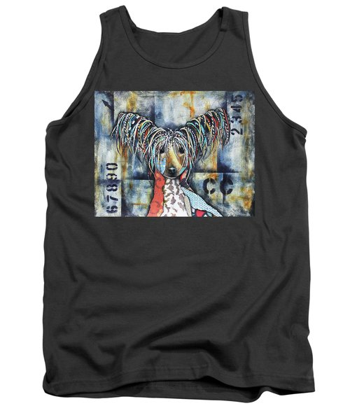 Chinese Crested Tank Top by Patricia Lintner