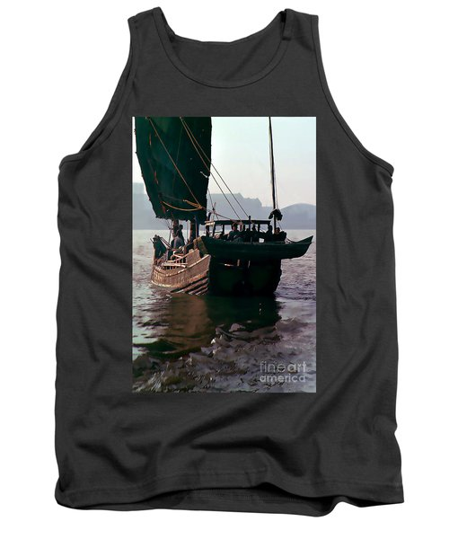 Chinese Junk Afloat In Shanghai Tank Top