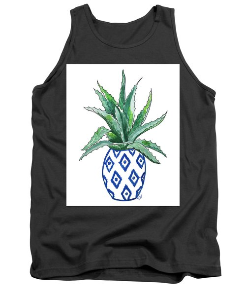 Chinoiserie Cactus Tank Top