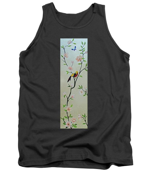 Chinoiserie - Magnolias And Birds #1 Tank Top