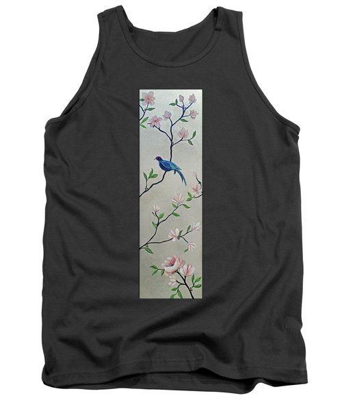 Chinoiserie - Magnolias And Birds #4 Tank Top