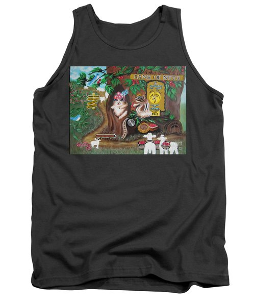Tank Top featuring the painting   Believers Bank Of Bitcoins And Nuts N Apples by Sigrid Tune