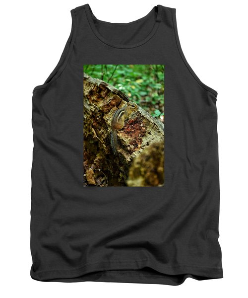 Tank Top featuring the photograph Chipmunk by Nikki McInnes
