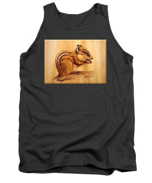 Tank Top featuring the pyrography Chippies Lunch by Ron Haist