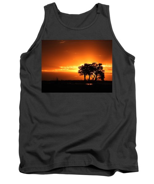Tank Top featuring the photograph Chobe River Sunset by Betty-Anne McDonald
