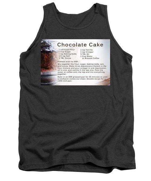 Chocolate Cake Recipe Tank Top