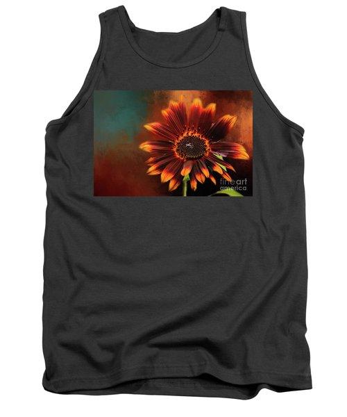 Chocolate Sunflower Tank Top