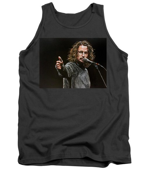 Tank Top featuring the painting Chris Cornell by Joel Tesch