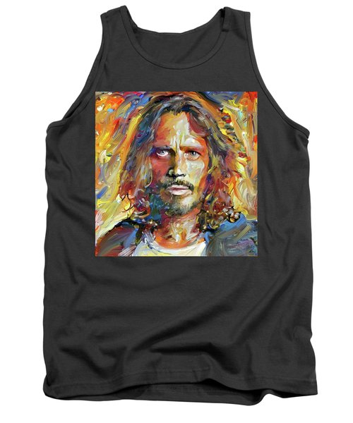 Chris Cornell Tribute 2017 Portrait Tank Top