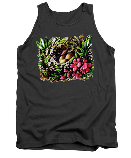 Christmas Birds Nest Painting Tank Top