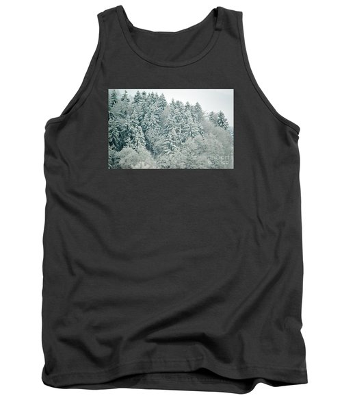 Tank Top featuring the photograph Christmas Forest - Winter In Switzerland by Susanne Van Hulst