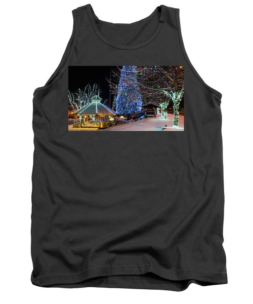 Tank Top featuring the photograph Christmas In Leavenworth by Dan Mihai