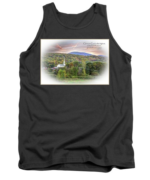 Christmas In Vermont Tank Top