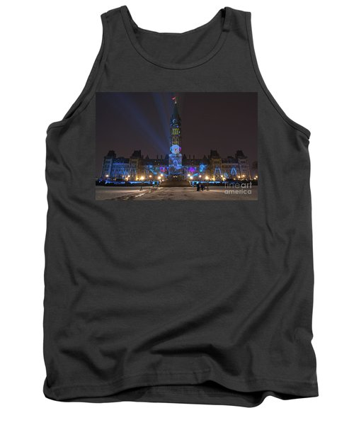 Tank Top featuring the photograph Christmas Lights Across Canada.. by Nina Stavlund