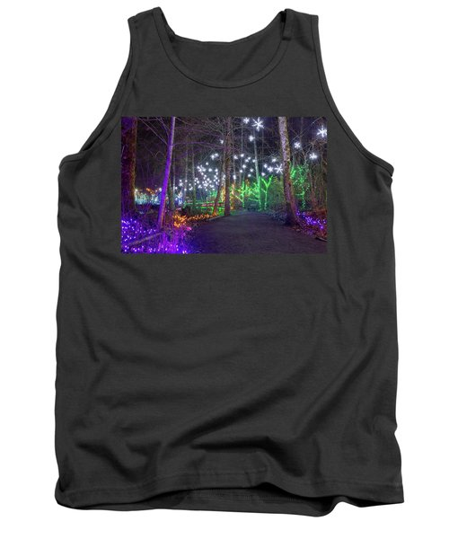 Christmas Lights Decoration Along Lafarge Lake Path Tank Top