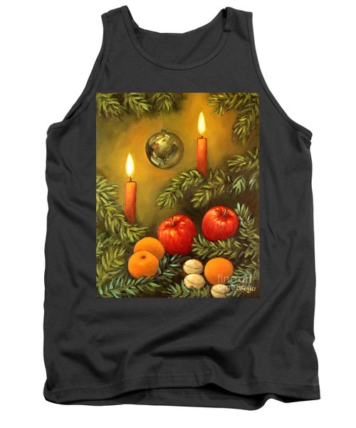 Christmas Lights Tank Top by Inese Poga