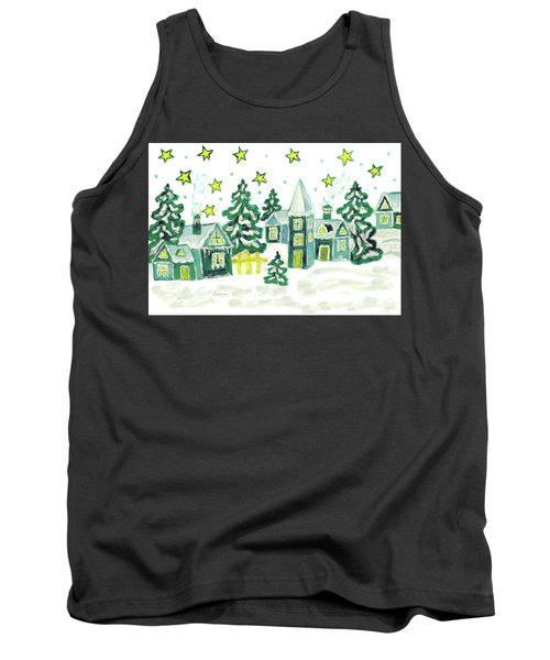 Christmas Picture In Green Tank Top
