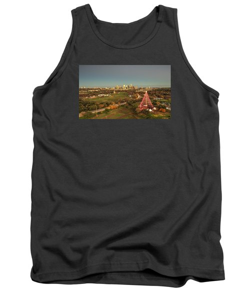 Christmas Tree In Austin Tank Top by Andrew Nourse