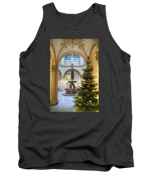 Christmas Tree In Ferstel Passage Vienna Tank Top