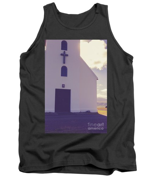 Tank Top featuring the photograph Church Iceland by Edward Fielding