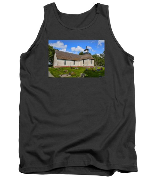 Tank Top featuring the photograph Church Teda Sw by Leif Sohlman