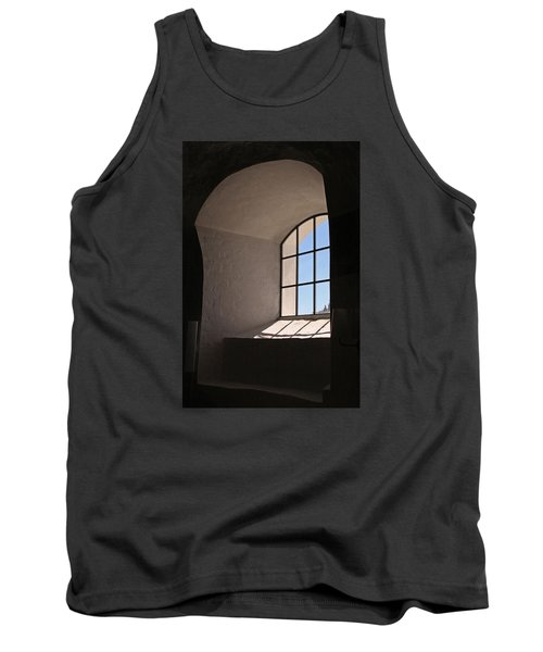 Tank Top featuring the photograph Church Window by Inge Riis McDonald