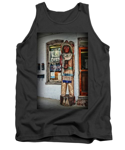 Tank Top featuring the photograph Cigar Store Indian by Paul Ward