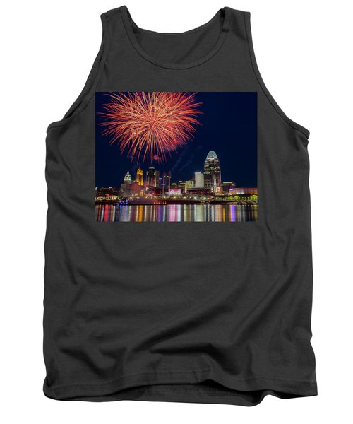 Cincinnati Fireworks Tank Top by Scott Meyer
