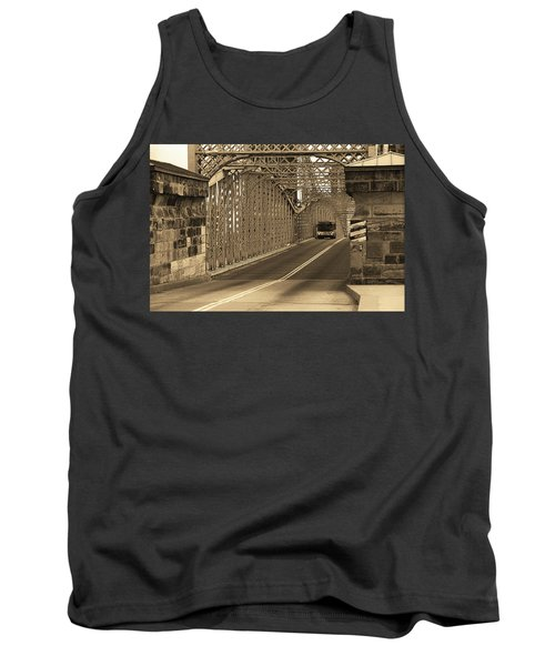 Cincinnati - Roebling Bridge 1 Sepia Tank Top by Frank Romeo